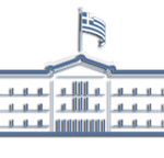 Icon of greek parliament symbolizing greek state for law service