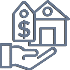Vector depicting selling house for lawyer service