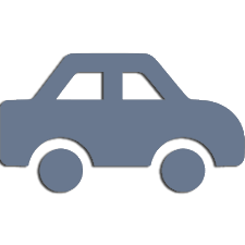Vector Icon of blue car for lawyer service