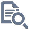 Icon of Document Examination. Vector depicting graphology service